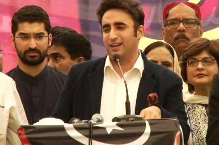 Eid ul Azha, with Chairman PPP Bilawal Bhutto Zardari speaking to his party workers