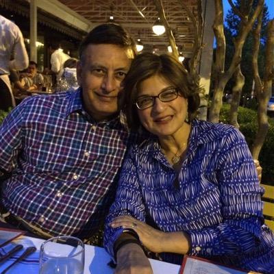 Farahnaz Ispahani with her Husband Mr. Husain Haqqani