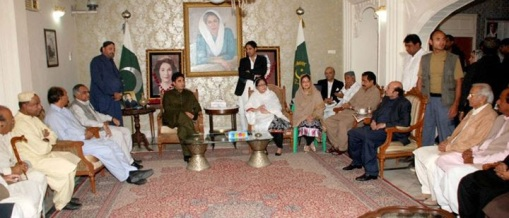 Chehlum Of Begum Nusrat Bhutto at Naudero -PPP chairman Bilawal Bhutto-Zardari is meeting with the delegation of PPP leaders at Naudero House on Sunday 27th November 2011.