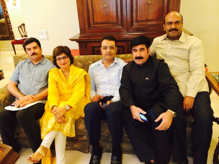 In Karachi for October 18th Jalsa, I with NOOR ALAM KHAN, Nadeem Afzal Chan and AkhunzadaChitan