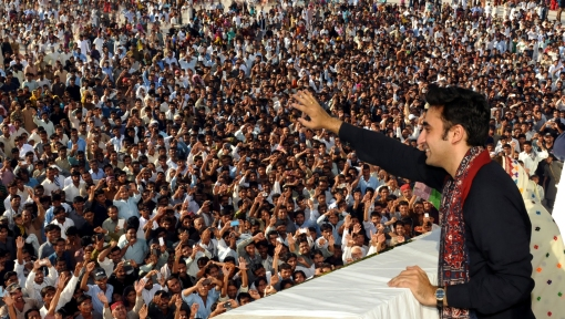 Addressing public gathering, PPP Chairman Bilawal Bhutto Zardari