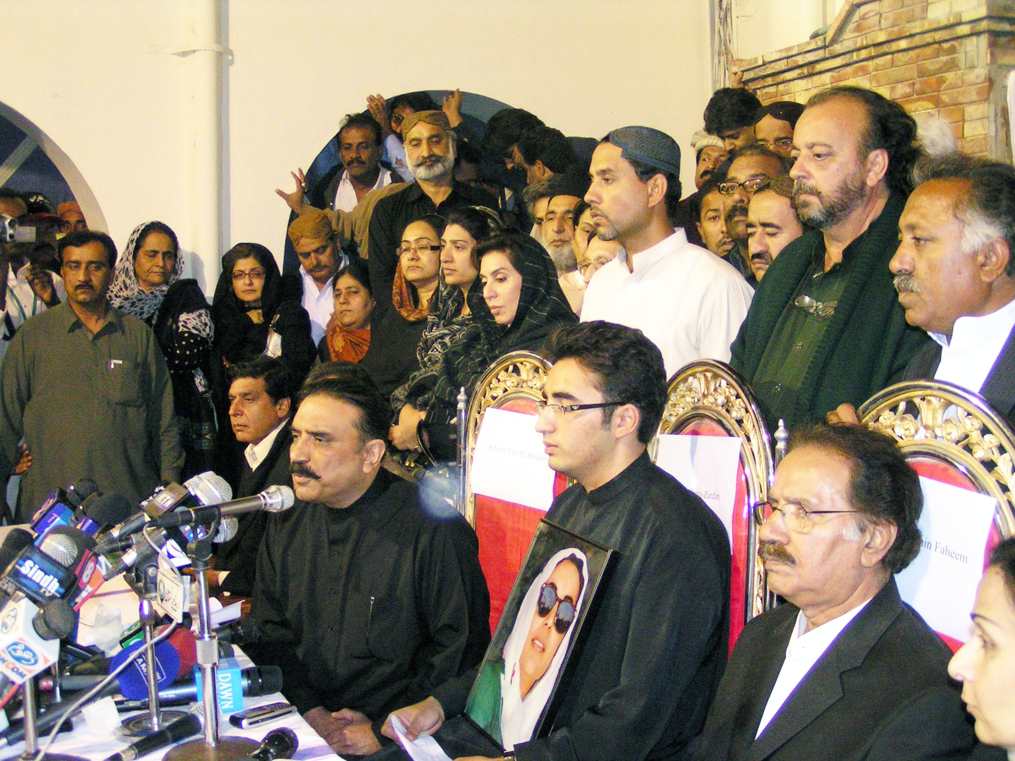 First Press Conference after Mohtarama Shaheed Benazir Bhutto saddest martyrdom