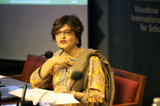 Speaking at Woodrow Wilson center for religious minorities of Pakistan