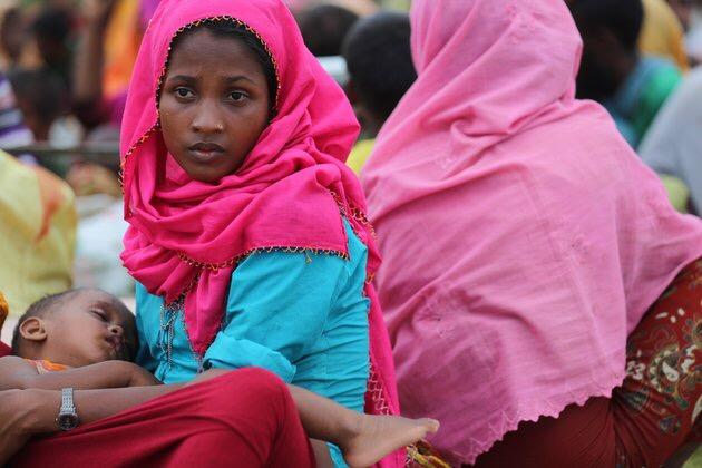 Rohingya refugees flee to Bangladesh. Sept. 10.